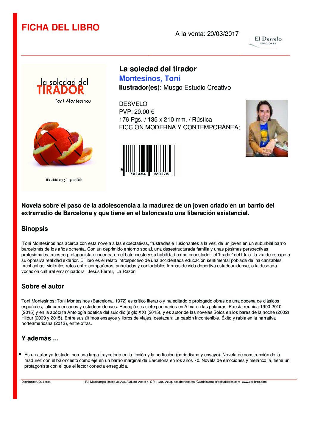 NUEVA PUBLICACIÓN DE TONI MONTESINOS